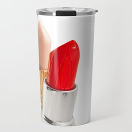 nu and red lipstick Travel Mug