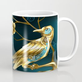 Steampunk Bird with Sakura Coffee Mug