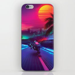Synthwave Midnight Outrun iPhone Skin