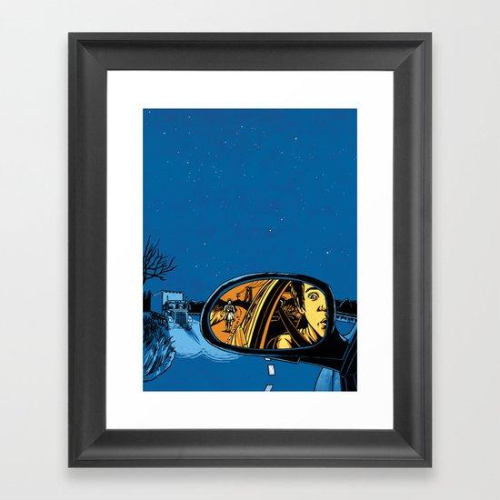 Night Drive Framed Art Print