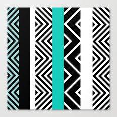geometric in blue Canvas Print