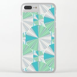 Light colored circles Clear iPhone Case
