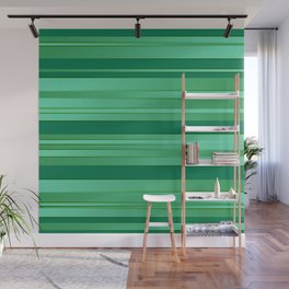 Green Ombre Stripes Wall Mural