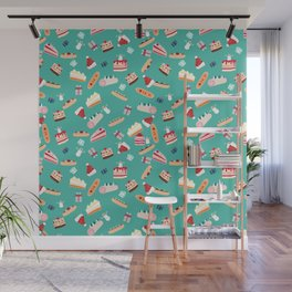 Christmas pastry pattern Wall Mural