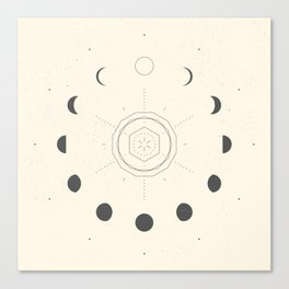 Moon Phases Light Canvas Print