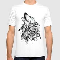 The Wolf White SMALL Mens Fitted Tee