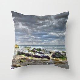 Porth Ysgo Throw Pillow