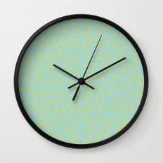 Yellow Pit on Mint /// www.pencilmeinstationery.com Wall Clock