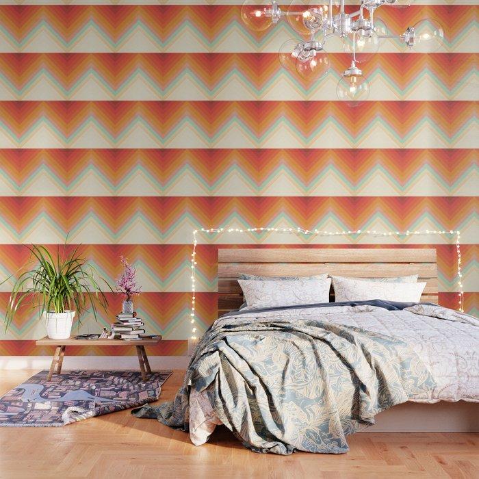 Rainbow Chevrons Wallpaper