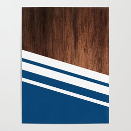 Wood of blue Poster
