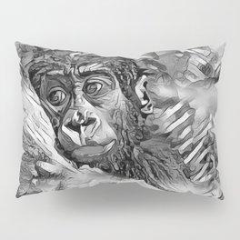 AnimalArtBW_Gorilla_20170608_by_JAMColorsSpecial Pillow Sham