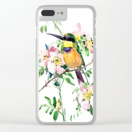 Bee-Eater and Rosehip Clear iPhone Case
