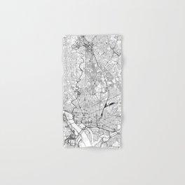 Washington D.C. White Map Hand & Bath Towel