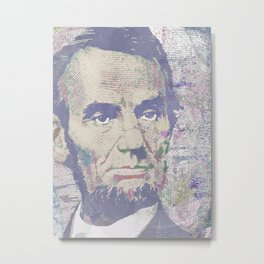 Lincoln Reimagined Horizontal Metal Print