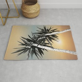 Cali Summer Vibes Palm Trees #1 #tropical #decor #art #society6 Rug