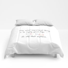 Inspiration Typography Quote Words Pastel Comforters