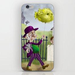 the Bowl Hat & Blowfish iPhone Skin