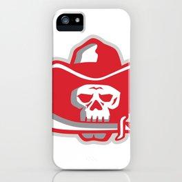 Cowboy Pirate Skull Biting Knife Retro iPhone Case