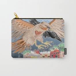 lady hawk and crow Carry-All Pouch