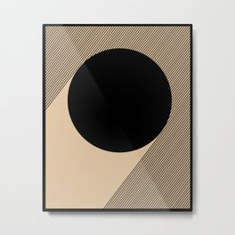 Black Circle Metal Print