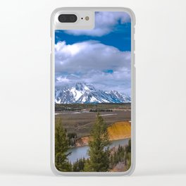 Tetons and the Snake River Clear iPhone Case