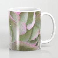 vintage flowers Mugs featuring Vintage Flowers by Caroline Benzies Photography