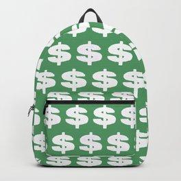 White dollar symbol Backpack