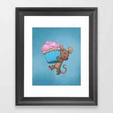Cupcake Mouse Framed Art Print