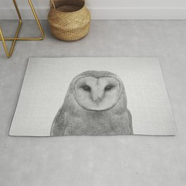 Owl - Black & White Rug