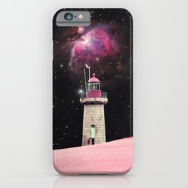 There's Always a Lighthouse - Space Aesthetic, Retro Futurism, Sci Fi iPhone Case