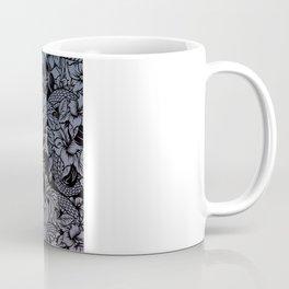 Snaky Fleur, Blue Fade Coffee Mug