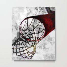 Basketball art swoosh vs 27 Metal Print