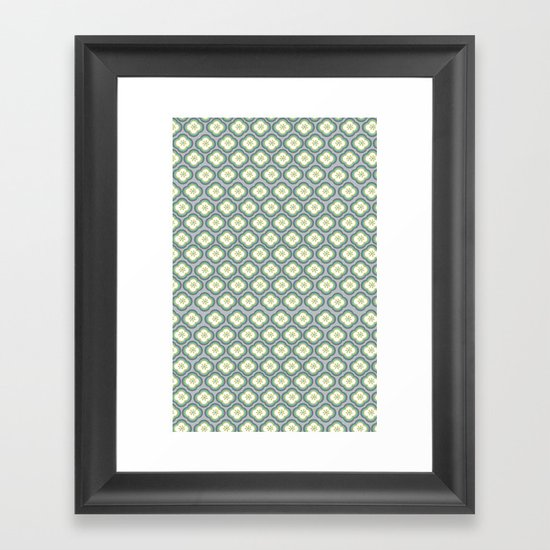 Grey Graphic Flower Framed Art Print