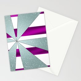 4Shades Glass: Purple White Stationery Cards