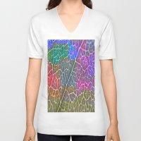 leaf V-neck T-shirts featuring Leaf  by Latidra Washington
