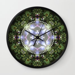Fractal Forest Indigo Wall Clock