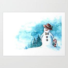 It's snowing, snowman! Art Print