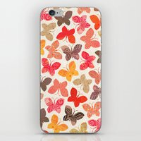 karu kara iPhone & iPod Skins featuring BUTTERFLY SEASON by Daisy Beatrice
