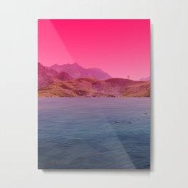 atmosphere 60 · pink Metal Print