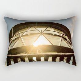 Sun Reflection on Glass Jupiter Lighthouse Architectural / Nature Photograph Rectangular Pillow