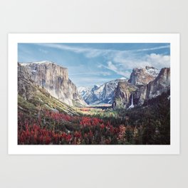 Tunnel View Yosemite Valley Art Print