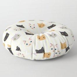 Cute Kitten & Stripes Pattern Floor Pillow