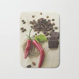 Rustic coffee beans kitchen image Bath Mat