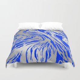 Marbled Blue Duvet Cover
