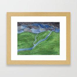 Dusk Over the Valley Framed Art Print