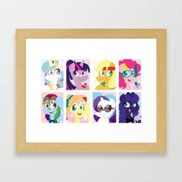Summer Ponies Framed Art Print