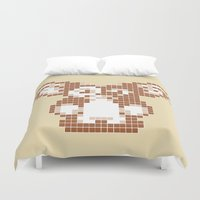 gizmo Duvet Covers featuring 8 bit Gizmo by Canis Picta