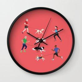 Canicross Quartet Wall Clock