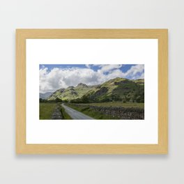Langdale Pikes from Green Lane Framed Art Print