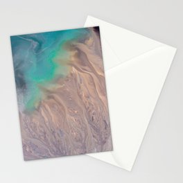Opalescent Arctic Marble Stationery Cards